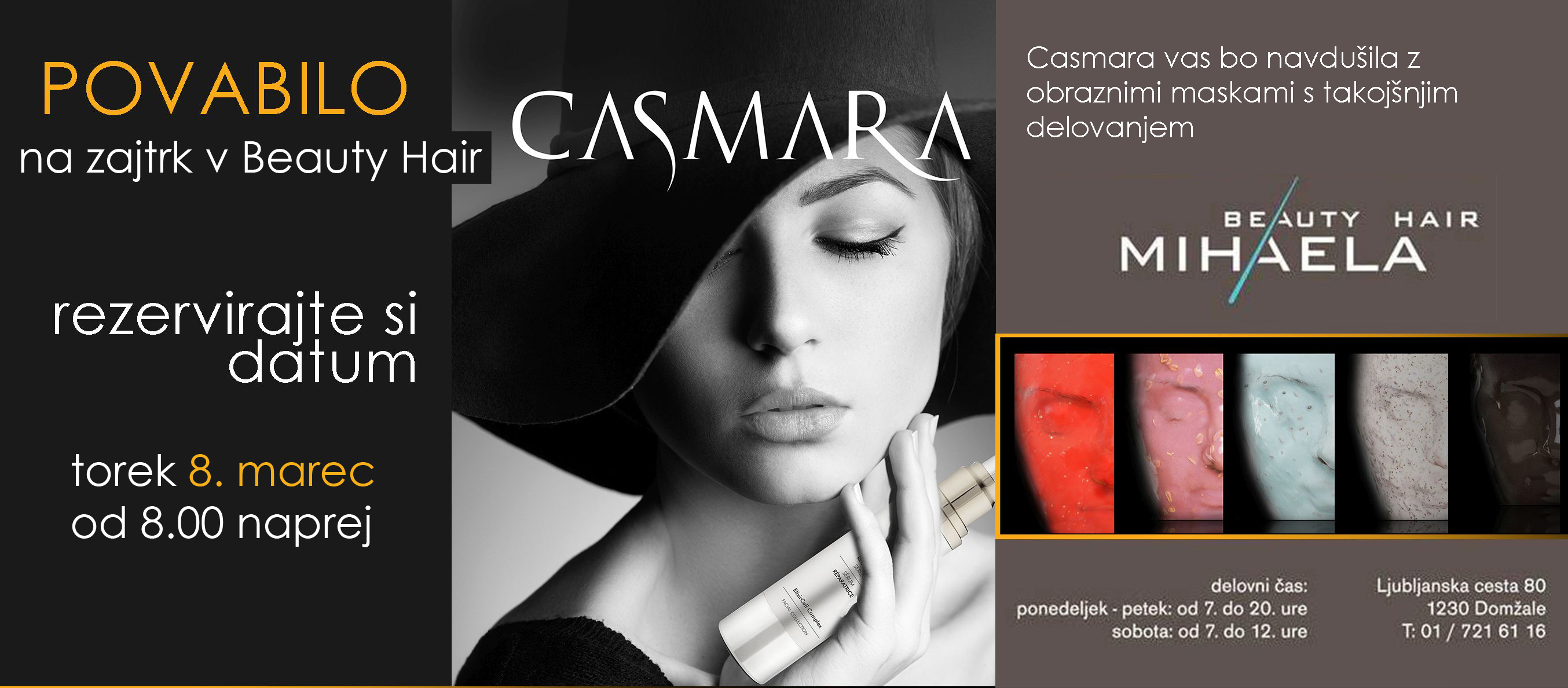 Zajtrk s Casmaro v Beauty Hair Mihaela